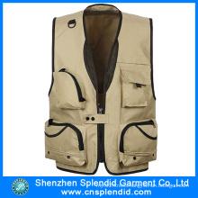Shenzhen Garment Factory Multi Pocket Journalist Vest