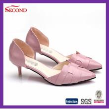 Pink PU brilhante Lady High Heels