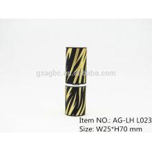Élégant en plastique rond rouge à lèvres Tube conteneur AG-LH-L023, tasse taille 11.8/12.1/12.7mm, couleur personnalisée
