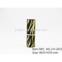 Elegante plástico redondo batom tubo recipiente AG-LH-L023, copo tamanho 11.8/12.1/12.7mm, cor personalizada