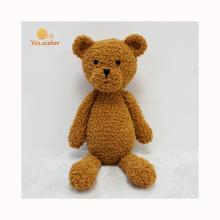 Factory Handmade Baby Crochet Toy Brown Teddy Bear