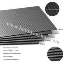 Abrebotellas de 2 mm de hoja de fibra de carbono 3K