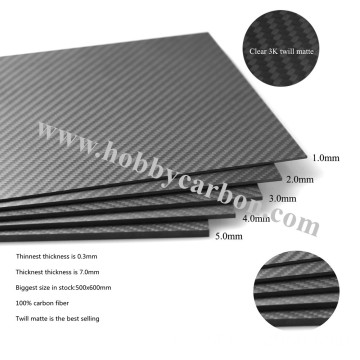 3K Carbon Fiber Sheet 2 mm flesopener