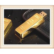 8GB Stick forma de barra de oro USB Flash Drive (EM025)