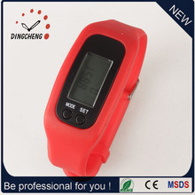 Stock Silikon Mode Unisex Sport Pemometer Uhr als Smart Armband