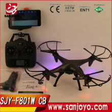F801W CB High quality professional rc drones with wifi FPV RC camera drone with purple led light batman verson