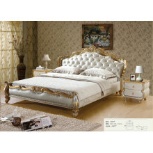 Bed New Model, New Classic Bed, Europe Royal Style Leather Bed (LA001)