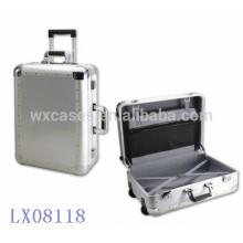 Nova chegada..--luxo forte & portátil alumínio bagagem por atacado fabricante