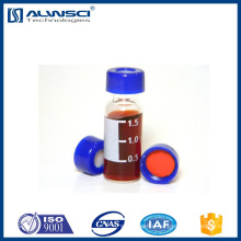 2ml 9-425 clear screw thread hplc vial with write on spot Autosampler Vial compatible with Agilent instrument