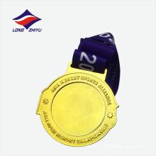 Médaille personnalisée au championnat doré brillant