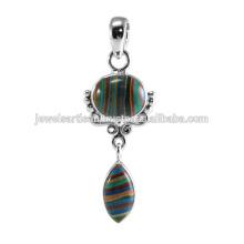 Rainbow Gemstone 925 Sterling Silver Pendant Jewelry