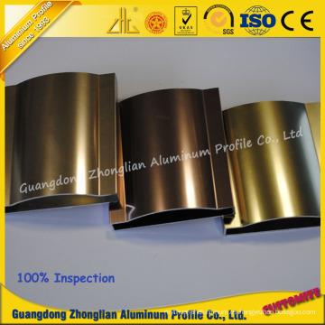 Perfil pulido aluminio brillante modificado para requisitos particulares fabricante de aluminio