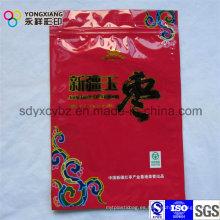 Color personalizado de alimentos secos envases de plástico bolsa con cremallera