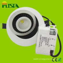 Cabeça ajustável 7W diodo emissor de luz