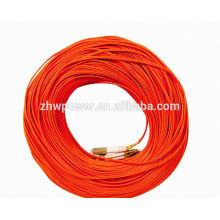 LC-LC дуплекс 50/125 многомодовый волоконно-оптический соединительный шнур соединительного кабеля, дуплексный волоконно-оптический соединительный шнур lc / upc с низкой вносимой потерей