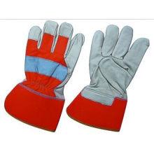 Kuh Korn Leder PE Manschette volle Palm Arbeit Handschuh-3140. Rd