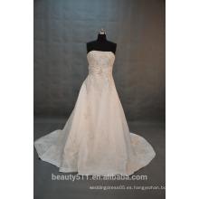 EN STOCK Vestido de novia sin mangas Off-The-Shoulder Vestido de novia de piso-longitud SW10
