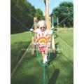 Детская открытая деревянная игровая площадка