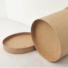Papel kraft no atacado, balde de sopa de copo descartável de bebida quente com tampa copo de sopa embalagem para viagem ambiental tigela de sopa