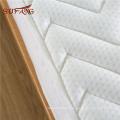 Patrón acolchado de algodón acolchado a prueba de agua anti-gusanos bolsillo profundo protector de colchón