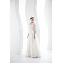 На Заказ V Шеи 3/4 Рукава Кружева Свадебное Платье Свадебное Платье