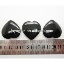 Natürliches schwarzes Onyxformherz 35MM