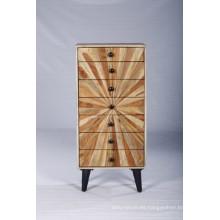 Vintage industrial moderno diseño hermoso cajón de madera del cajón