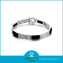 Moda rhodium banhado a prata jóias Agatebracelet (SH-B0008)