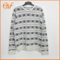 Hommes Acrylique Snow Pattern Casual Winter Jacquard Sweater