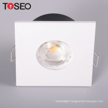 Led ceiling lights Cutting 68mm MR16 GU10 downlight housing square die cast aluminum led housing