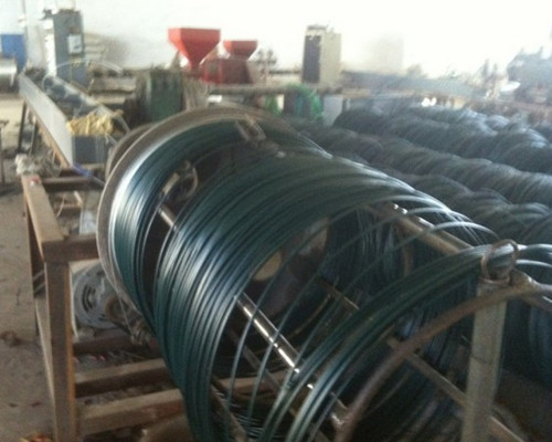 PVC coated wire production