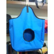Blaue Oxford-Stoff-Taschen