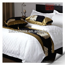 Suministro cama de hotel de terciopelo decorativo cama