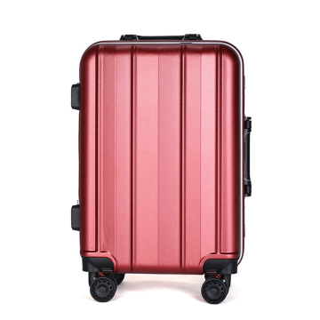 3 pcs abs + pc aluminium alloy troli bagasi set