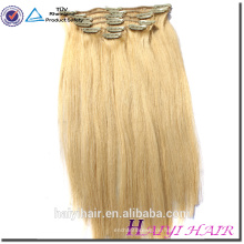 Voller Kopf stellte 18 Zoll Klipp in der Menschenhaar-Ausdehnung, indisches Remy wholesale 200g einzelne Strangclip-Haarverlängerung ein