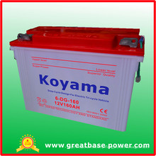 6-Dg-160-12V160ah Tubular Dry Charger Deep Cycle Battery for Electric Tricycle