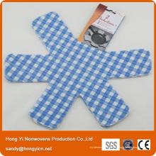 Protecteur de poêle et poêle en tissu non tissé perforé à l'aiguille polyvalente