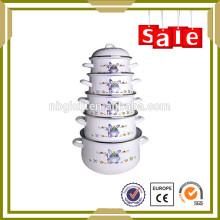 Utensilios de cocina de la reina de la cocina del esmalte de la porcelana de Enamelware de 5 PC fijados para la sopa