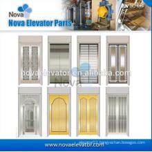 Elevator Parts Elevator Door Panel Two Panels Center Opening Stainless Steel Elevator Door Panel