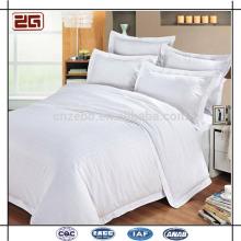 Made in China Baumwolle Weiß Stoff Großhandel Hotel Motel Bettwäsche Sets