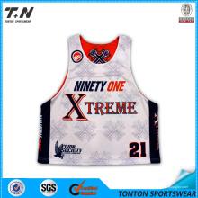 Vente en gros Custom Sublimation Lacrosse Jersey pour homme