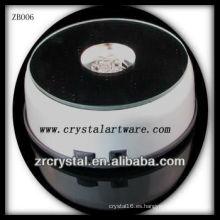 Moda Base de luz LED de plástico para Crystal