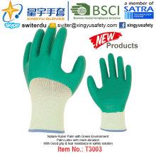 (Productos de Patentes) Guantes de protección de látex verde medio ambiente T3003