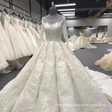 Heavy beading long sleeve wedding dress bridal gown 2017