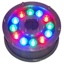 China nuevo producto 100-240v 12V 24V 9w 12w ip65 12w 24v piscina llevó luces cambiantes de color