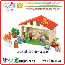Beautifully Crafted Kids Christmas Gift, Vivid Nativity Scene Wooden Christmas Gift