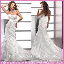 WD1194 alibaba recommandée pour les ventes en gros dernières robes de mariée de mariage strass en diamant taille couches jupe robes de train de mariée