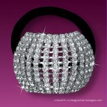 Мода металлический посеребренный кристалл свадебный диапазон волос