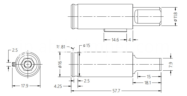 Vane Damper Drawing For Household Appliances