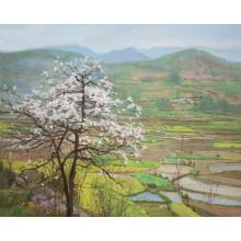 Главная Декорации Деревня пейзаж масляной живописи Оптовая (ESL-097)